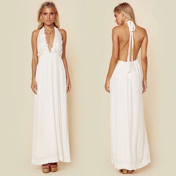 02751ec33d For Love and Lemons Isabella Halter Maxi Dress